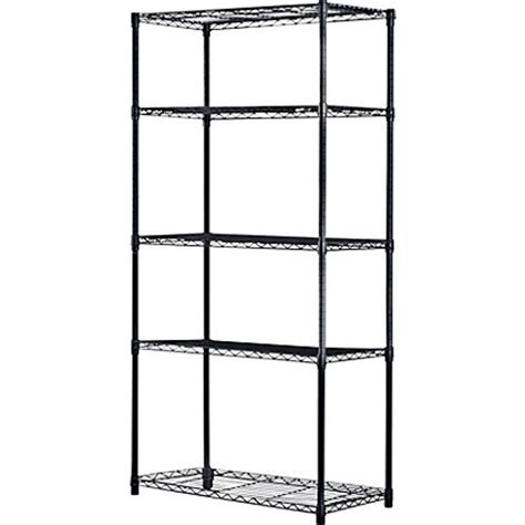 Homebase Shelving For Garages by 5 Tier Heavy Duty Wire Shelving