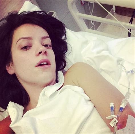 selfie in bed why lily allen s hospital selfie is so sickening daily
