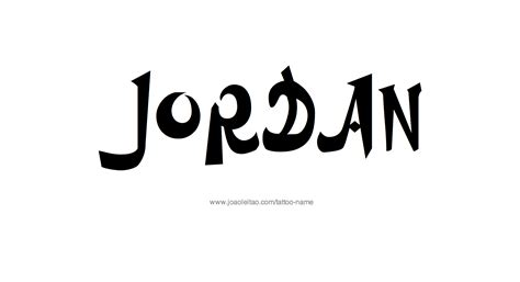 jordan name tattoos name designs