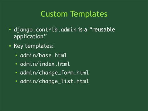 django tutorial base html customizing the django admin
