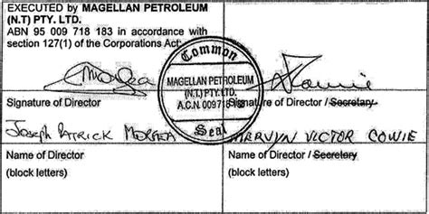 section 183 corporations act dated 14 sep 2011 magellan petroleum n t pty ltd abn