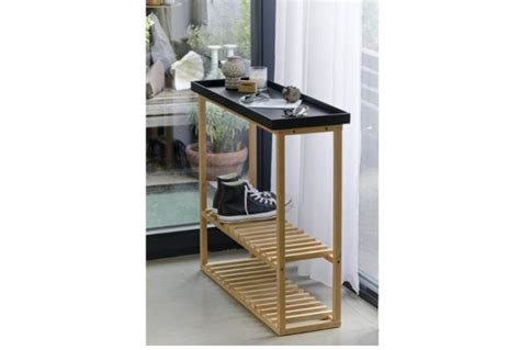 Hallway Table With Shoe Rack Hello Hallway Wooden Shoe Storage Unit Table Absolute Home