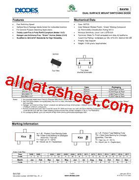 diodes inc bav99 7 f bav99 7 f datasheet pdf diodes incorporated
