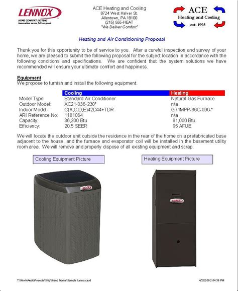 Elite Software Proposal Maker Hvac Rfp Template