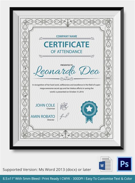 43 formal and informal editable certificate template
