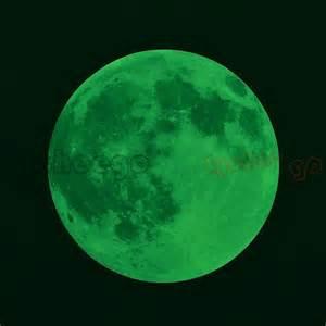 glow in the moon wall sticker 1x pvc luminous glow in the moon design wall sticker