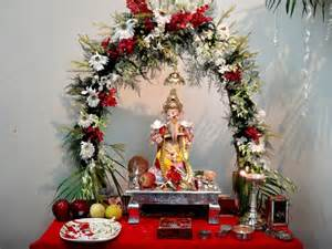 Home Temple Decoration ganesh chaturthi decoration ideas 2016 home decoration