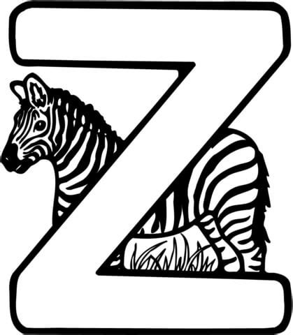 zebra z coloring page letter z is for zebra coloring page free printable