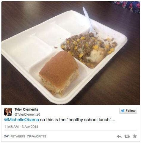 michelle obama lunch menu outrage this photo of a gross michelle obama school lunch