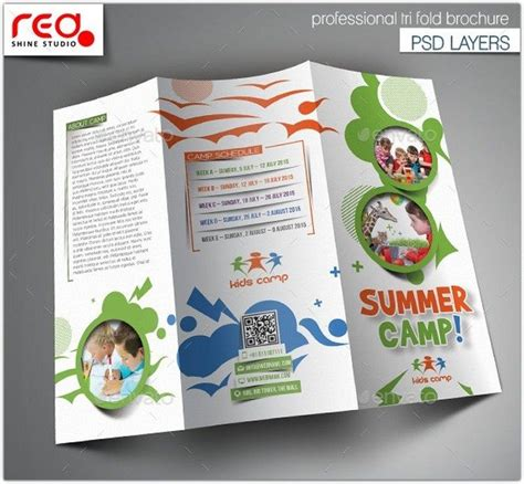 21 latest camp brochure templates web creative all