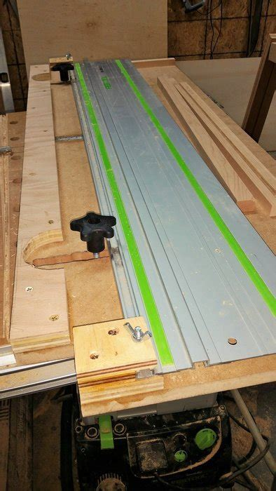festool woodworking projects narrow rip jig for festool tracksaw by fiddlebanshee
