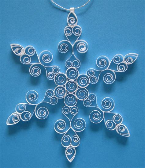 Make Fancy Paper Snowflakes - ornament fancy paper quilled snowflake
