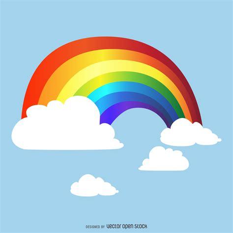 imagenes de un arco iris gradiente de arco iris en el cielo dibujo descargar vector