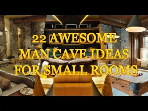 man cave designs for small rooms
