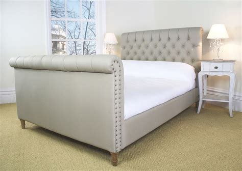upholstered sleigh bed diy pictures reference