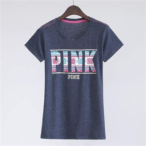 pink pattern shirt 2017 brand women summer tops letter pattern pink t shirt o
