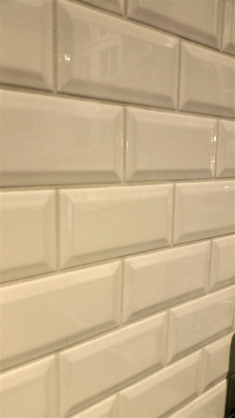 it s jewelry for your kitchen beveled subway backsplash