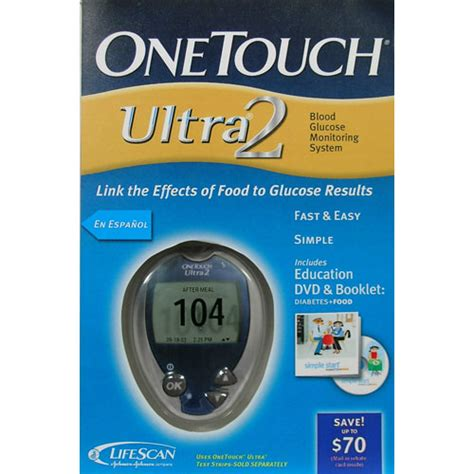 One Touch Glucose Meter One Touch Ultra 2 Blood Glucose Meter Common Cents Ems