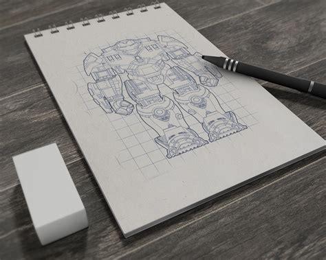 sketch mockup book free free illustrations drawing sketchbook mockup psd
