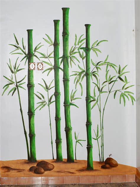 bamboo wall painting www imgkid the image kid has it
