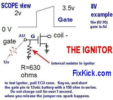 how to test the resistor i am sure i no spark