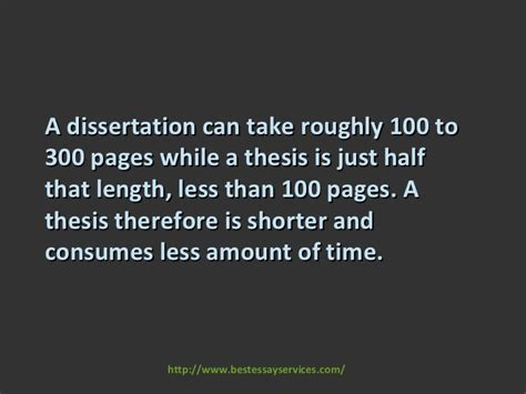 dissertation and thesis differences between dissertation and thesis
