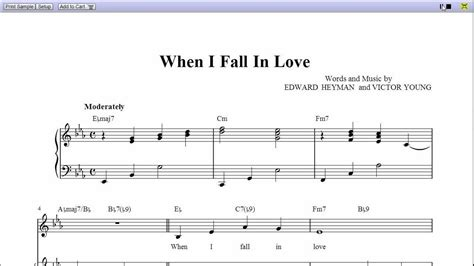 When I Fall quot when i fall in quot by nat king cole piano sheet