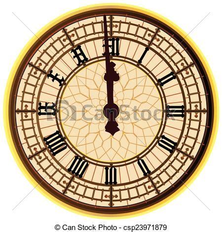 Rok Linen Klok big ben midnight clock the clock of the