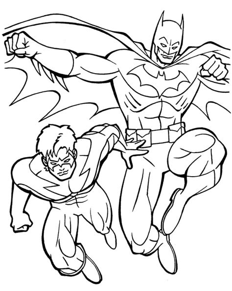 batman nightwing coloring pages - Nightwing Coloring Pages