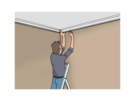 Comment Couper Moulure Plafond Angle by Fixer Une Moulure Au Plafond Plafond Livios