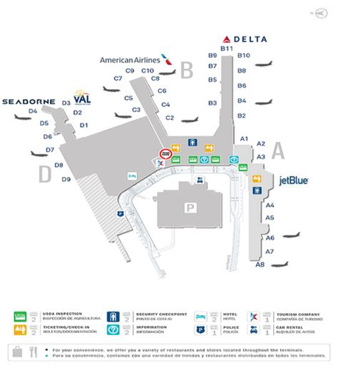 sju airport map check in times seaborne airlines