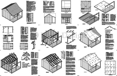 100 Floors Level 99 Reason - 14 x 12 backyard storage shed with porch plans p81412