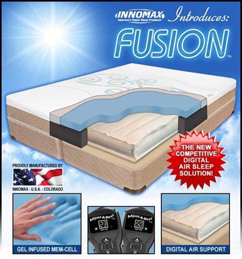 Dual Chamber Air Mattress by Fusion Air Beds Air Mattress Dual Chamber Memory Gel Top