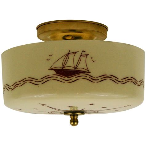 Nautical Flush Mount Ceiling Light Nautical Compass Ceiling Light At 1stdibs