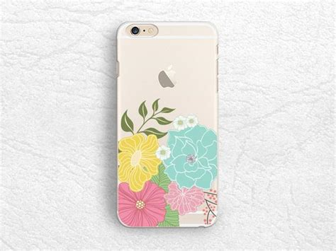 All Matte For Iphone 5 6 6p 7 7p floral flower clear transparent phone for iphone 7