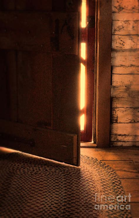 open cabin open cabin door photograph by battaglia