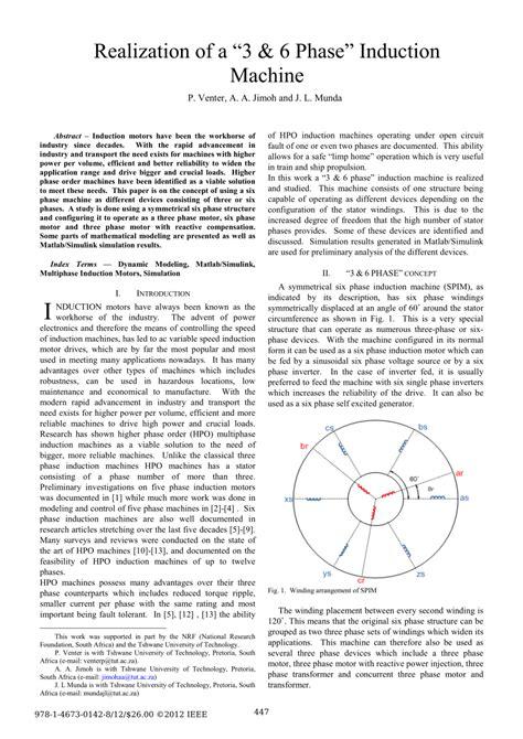 three phase induction machines pdf realization of a 3 6 phase induction machine pdf available