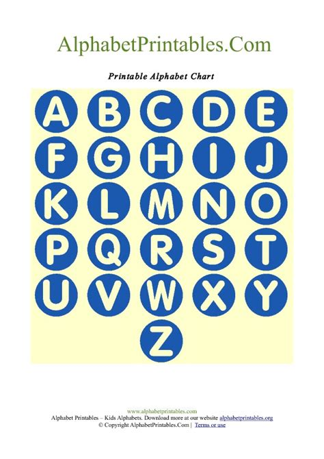 free printable alphabet letters in blue circle shaped a z letter chart templates alphabet
