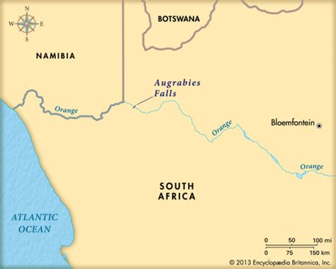 africa map falls augrabies falls map students britannica