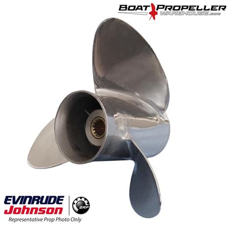 boat propeller 13 1 4 x 17 stainless steel 13 1 4 x 17 quot evinrude 174 johnson