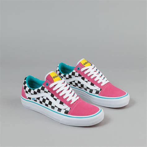 Vans Golfwang 1 vans skool pro shoes golf wang blue pink white flatspot