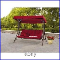 red patio swing daybed swing red patio outdoor garden porch yard furniture