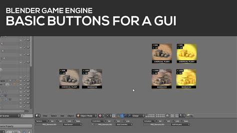 construct 2 game engine tutorial basic buttons for a gui in blender s game engine tutorial