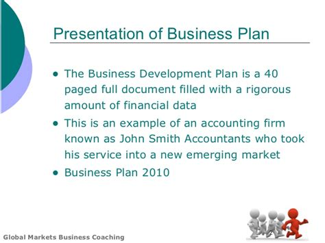global markets business plan template