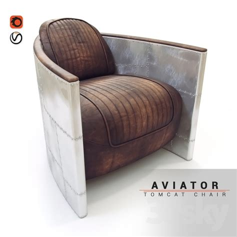 armchair aviator 3d models arm chair armchair aviator tomcat chair
