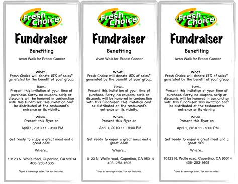 fundraising brochure template best photos of sle fundraiser flyers fundraiser flyer