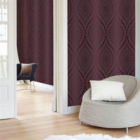 glitter wallpaper b and q kismet purple damask glitter effect wallpaper