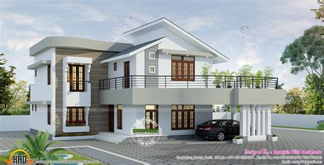 contemporary style kerala home design spacious contemporary style home kerala home design and