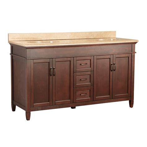 ashburn 61 in w x 22 in d vanity in mahogany with vanity