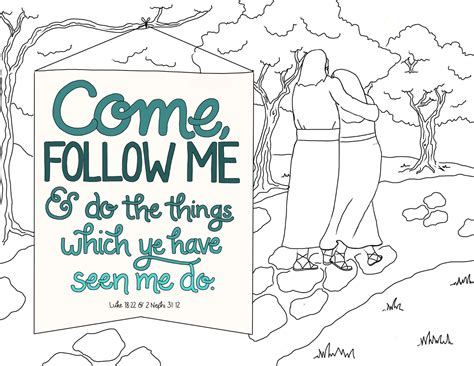 coloring page follow jesus just what i squeeze in come follow me coloring page 10